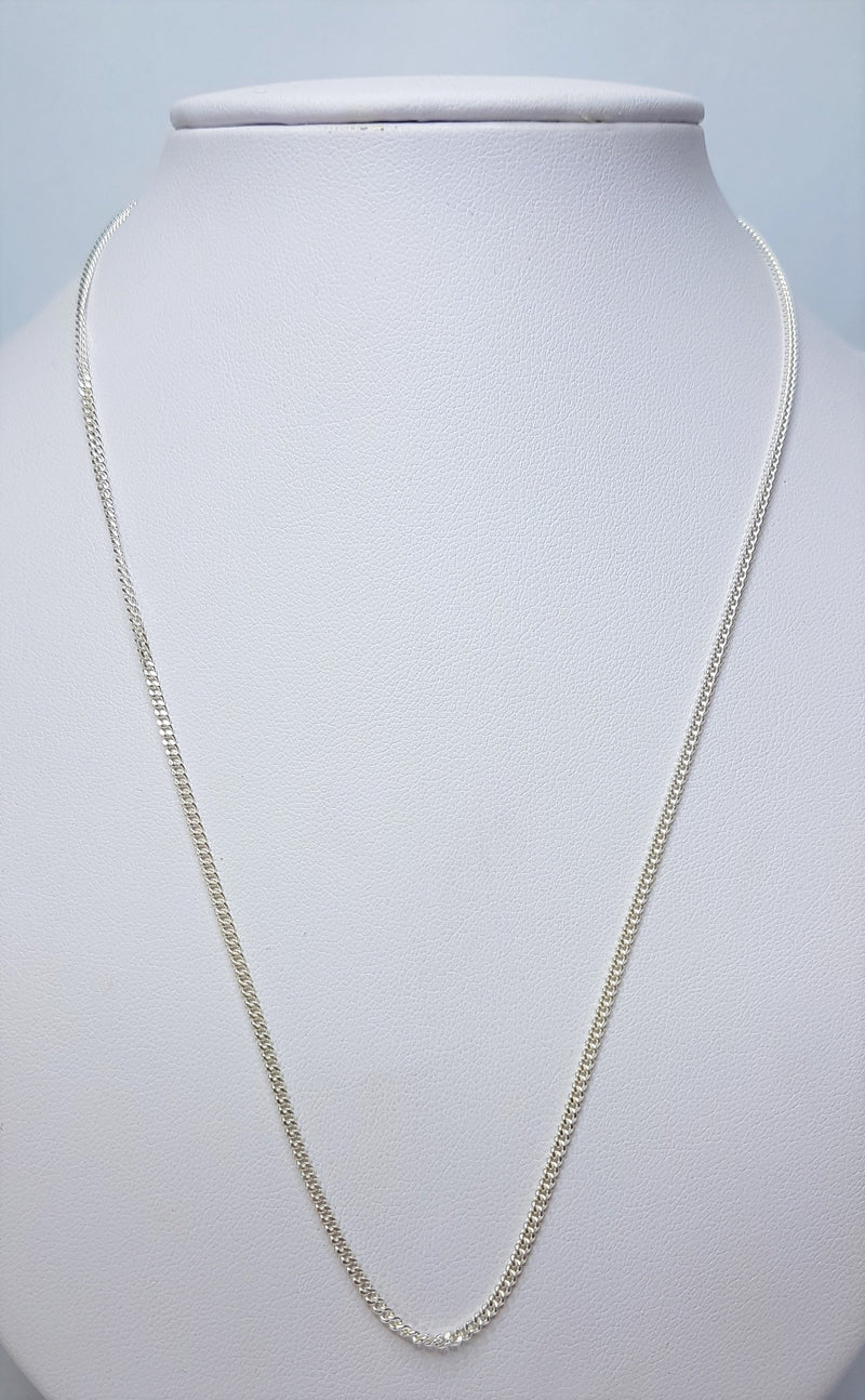 45cm Curb (30) Sterling Silver Chain