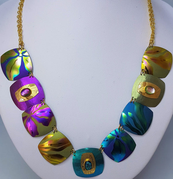 Desert Song Gold Multi Coloured Necklace