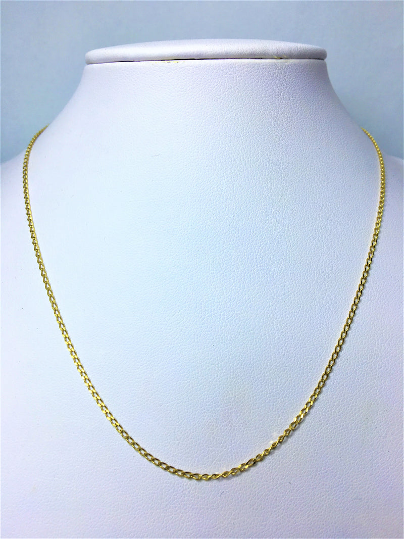 9ct Yellow Gold Open Link Chain 45cm