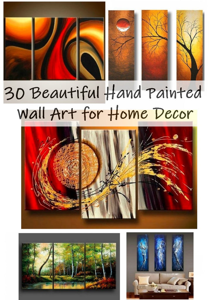 30 Beautiful Hand Painted Art, Abstract Painting for Sale, 3 Piece Paintings, Acrylic Painting