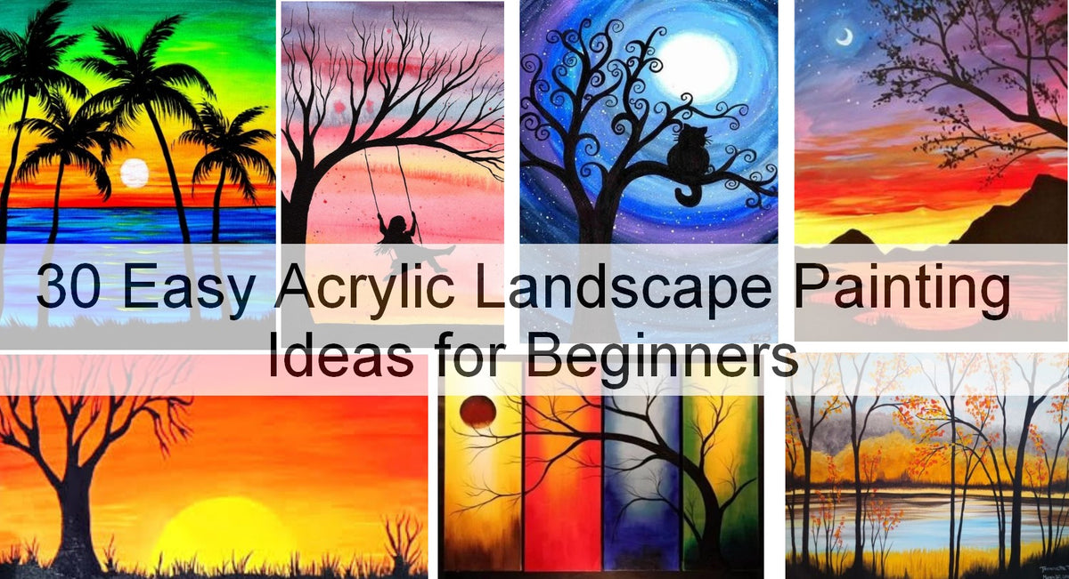 30 Easy Landscape Paintings Ideas For Beginners Sunrise Paintings T Grace Painting Crafts