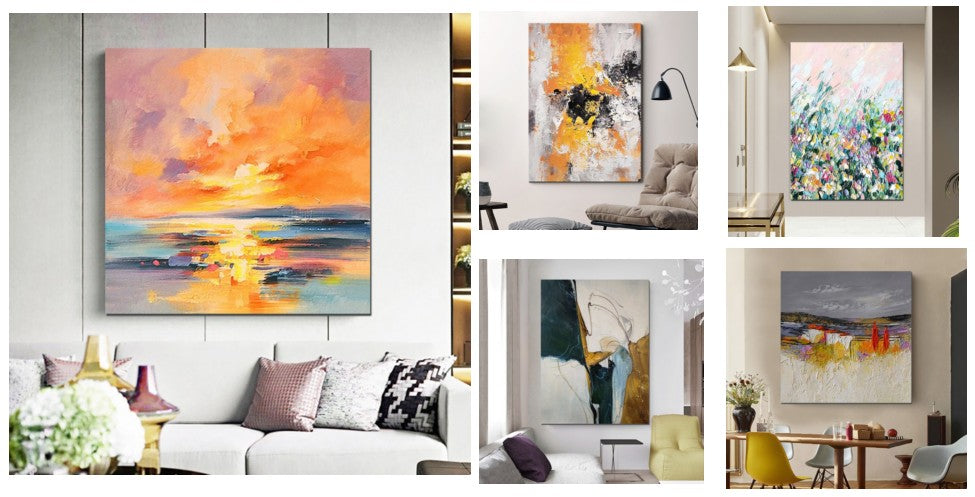 Simple Painting Ideas for Living Room, Simple Modern Art, Paintings for Living Room, Large Abstract Wall Art Paintings, Oversized Canvas Paintings