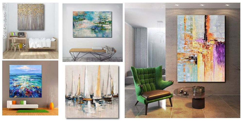 Large Paintings for Living Room, Simple Modern Art, Acrylic Paintings for Bedroom, Simple Wall Art Paintings for Living Room, Hand Painted Canvas Art