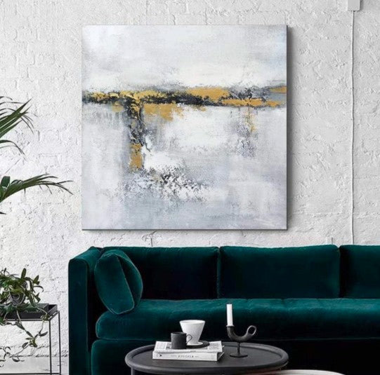 Acrylic Painting for Dining Room, Living Room Wall Painting, Contemporary Wall Painting, Modern Artwork, Large Canvas Painting
