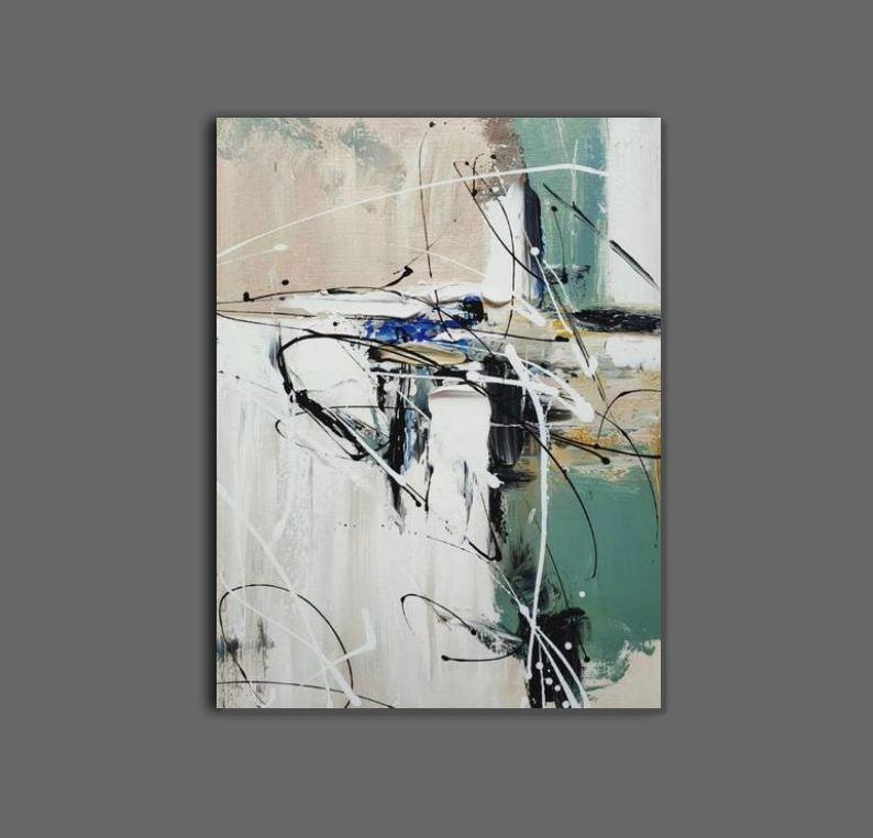 Hand Painted Wall Painting, Abstract Acrylic Painting, Extra Large Paintings for Living Room, Modern Abstract Art