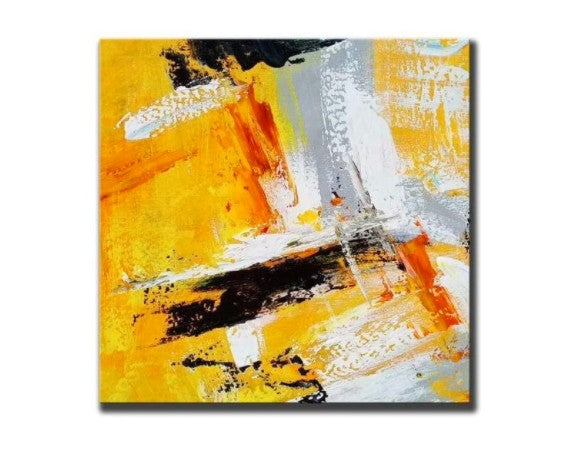 Abstract Wall Painting for Living Room, Acrylic Paintings for Dining Room, Hand Painted Acrylic Painting, Modern Contemporary Artwork