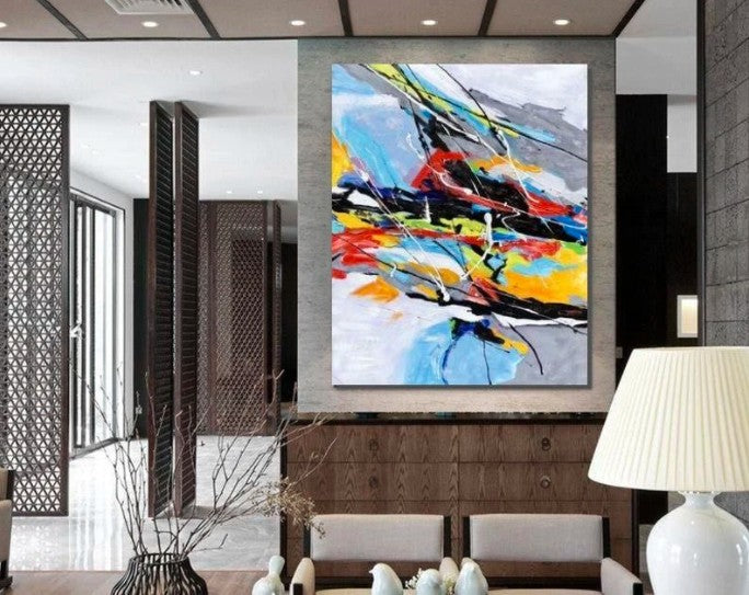 Wall Art Paintings, Hand Painted Acrylic Painting, Modern Abstract Painting, Extra Large Paintings for Living Room