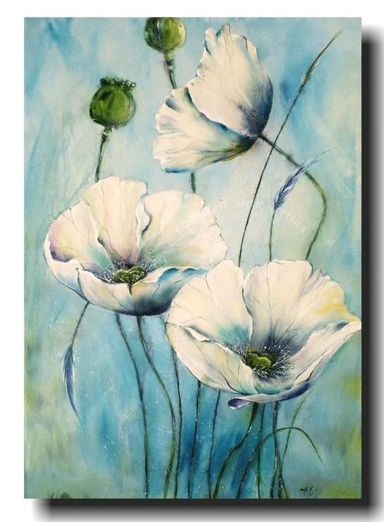 Beautiful Flower Paintings Acrylic Flower Painting Abstract Flower Art Grace Painting Crafts