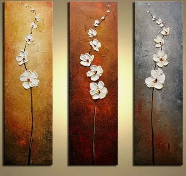 Acrylic Flower Paintings, Acrylic Wall Art Painting, Flower Painting, Texture Painting, Painting for Sale