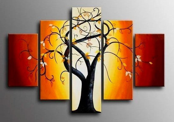 Living Room Wall Art, Large Painting for Living Room, Canvas Paintings, Acrylic Wall Art, Tree Paintings