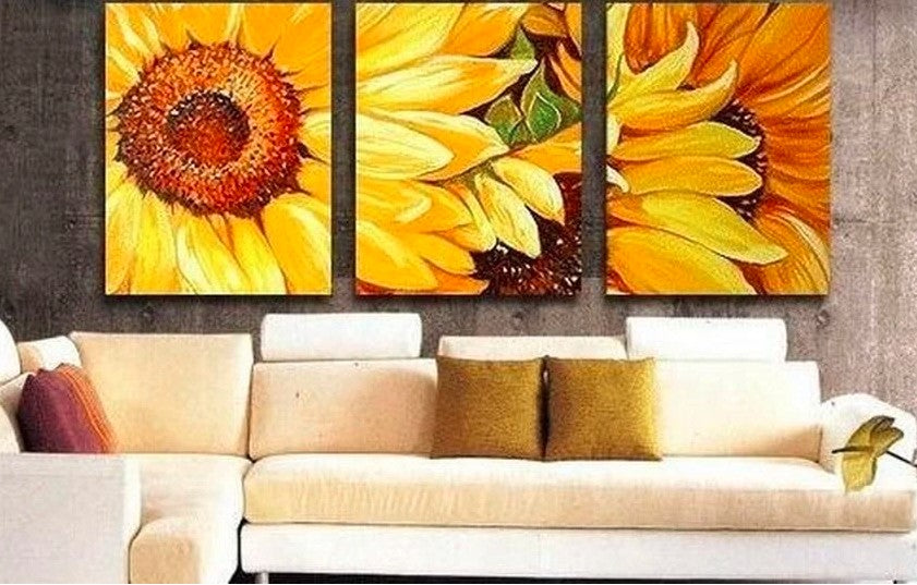 Sunflower Wall Art Paintings, Living Room Wall Art Paintings, Bedroom Wall Art Paintings