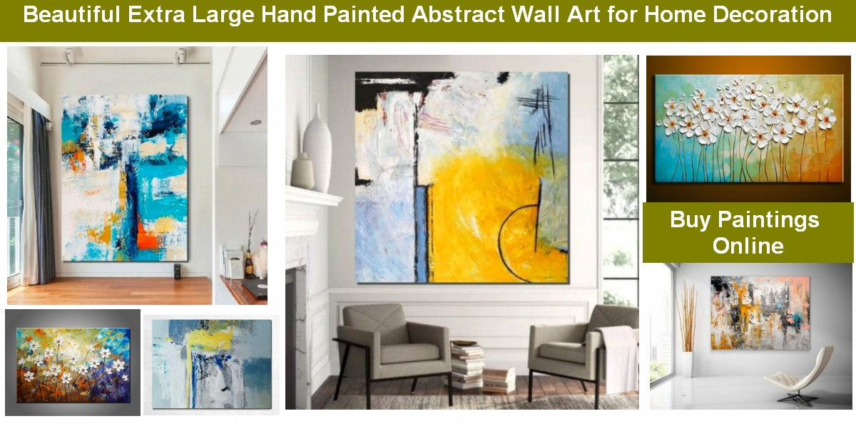 Living Room Acrylic Painting, Living Room Canvas Painting, Paintings for Living Room, Modern Paintings for Bedroom, Contemporary Wall Art Paintings