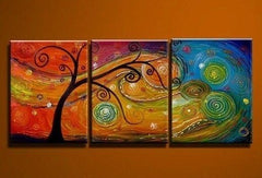 Tree of Life Paintings, Large Abstract Paintings, Buy Paintings Online, Colorful trees