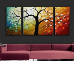 Colorful trees, Tree of Life Paintings, Large Abstract Paintings, Buy Paintings Online