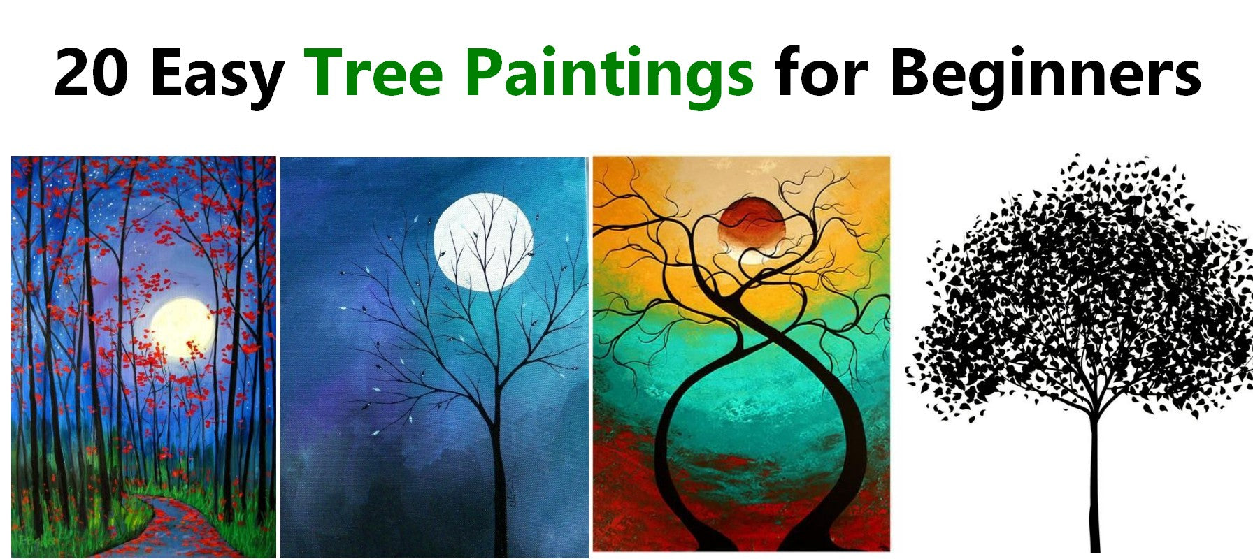 20 Easy Tree Painting Ideas For Beginners Acrylic Tree Painting Wat Grace Painting Crafts