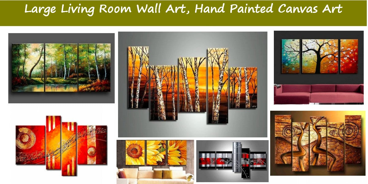 Landscape Paintings for Living Room, Acrylic Paintings for Living Room, Modern Paintings for Living Room, Abstract Contemporary Wall Art Paintings
