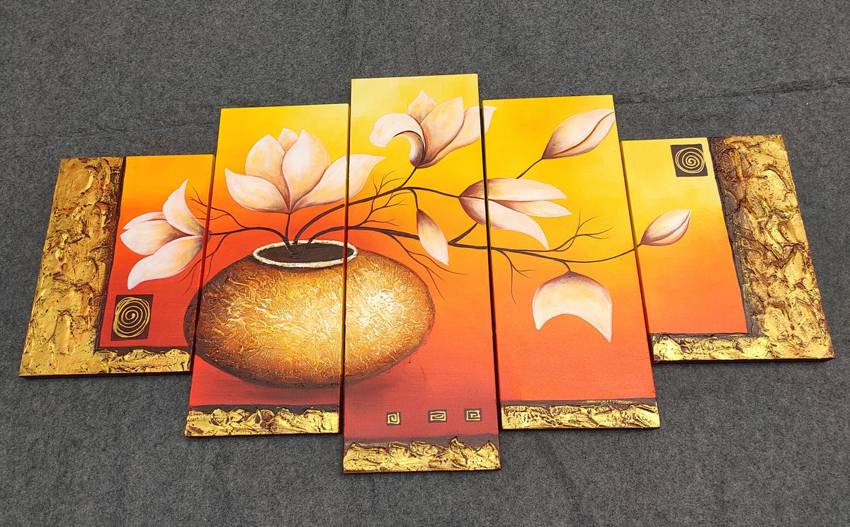 Paintings for Living Room, Acrylic Flower Paintings, Acrylic Paintings for Living Room, Buy Paintings Online