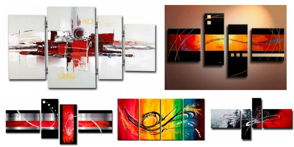 4 piece canvas painting, Multiple Canvas Paintings, Simple Abstract Art, Bedroom Canvas Painting, Modern Paintings for Living Room, Acrylic Wall Art Paintings, Buy Paintings Online