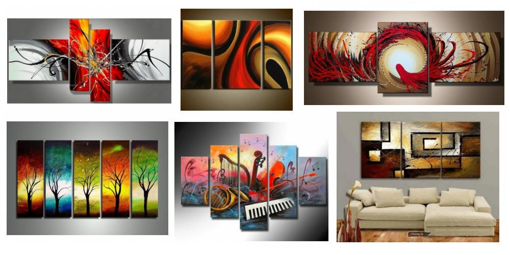 Modern Paintings for Dining Room, Simple Modern Art, Multiple Canvas Paintings, Large Paintings for Dining Room, Dining Room Canvas Painting, Hand Painted Canvas Art