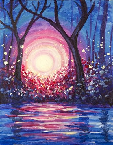 40 Easy Landscape Painting Ideas for Beginners, Easy Tree Painting Ideas, Simple Canvas Painting Ideas, Easy Acrylic Paintings