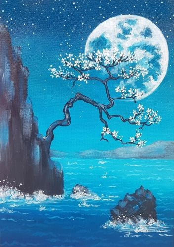 40 Easy Landscape Painting Ideas for Beginners, Easy Tree Moon Painting Ideas, Simple Canvas Painting Ideas, Easy Acrylic Paintings