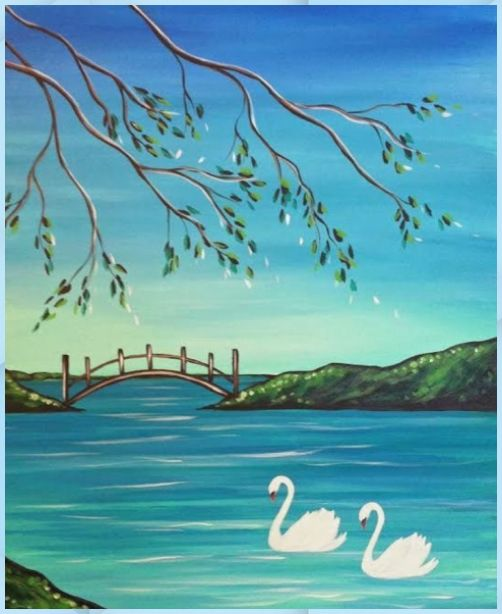 40 Easy Landscape Painting Ideas for Beginners, Simple Canvas Painting Ideas, Easy DIY Acrylic Painting Techniques, Easy Tree Painting Ideas