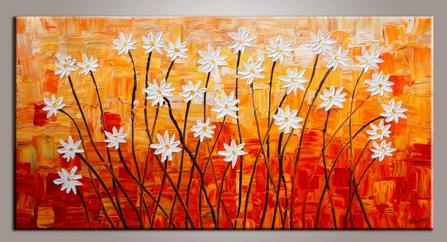 Flower Painting, Acrylic Flower Painting, Abstract Flower Painting, Palette Knife Paintings, Acrylic Painting Flower