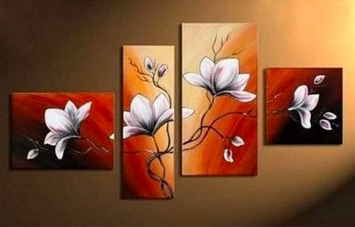 Flower Paintings, Acrylic Flower Painting, Abstract Flower Art, Modern Paintings, Canvas Paintings for Bedroom, Hand Painted Wall Art