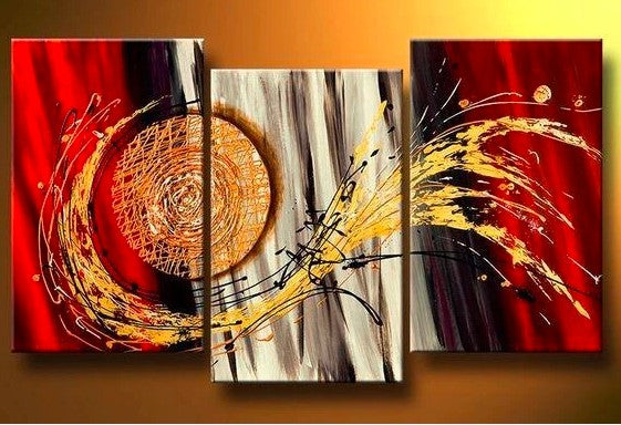 3 Piece Painting, 3 Piece Wall Art, 3 Piece Canvas Painting, 3 Panel Abstract Artwork