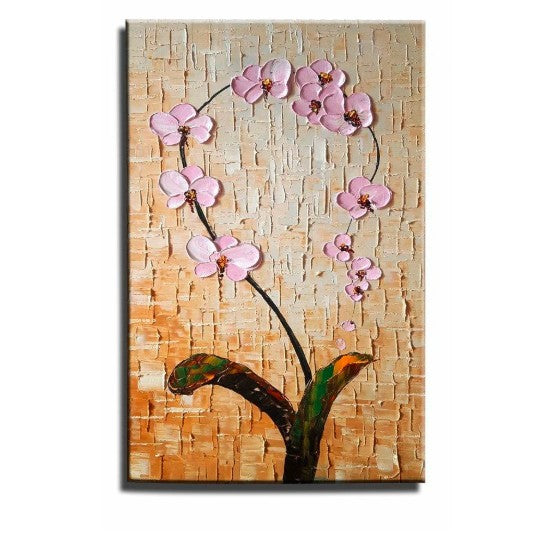 Flower Paintings, Acrylic Flower Painting, Abstract Flower Art, Palette Knife Paintings, Impasto Paintings, Bedroom Wall Art, Still Life Paintings