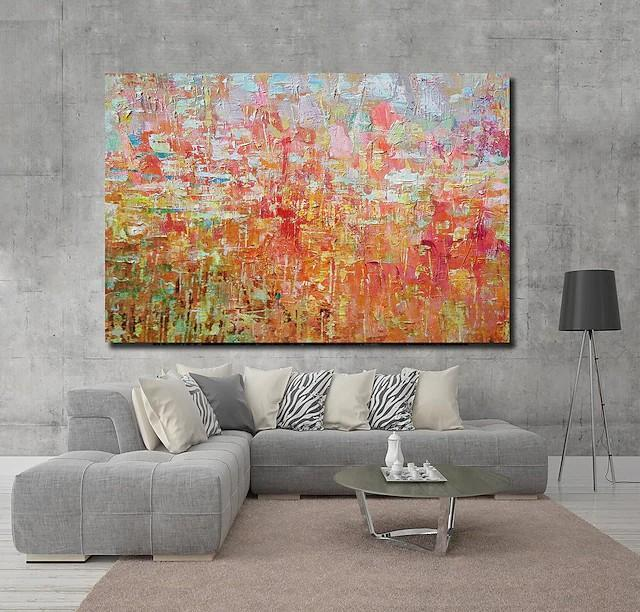 Palette Knife Paintings, Hand Painted Canvas Art, Simple Painting Ideas for Bedroom, Modern Paintings for Living Room