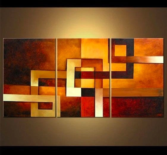 Canvas Painting Set, Abstract Art, 3 Piece Wall Art, Abstract Painting, Large Oil Painting, Group Art
