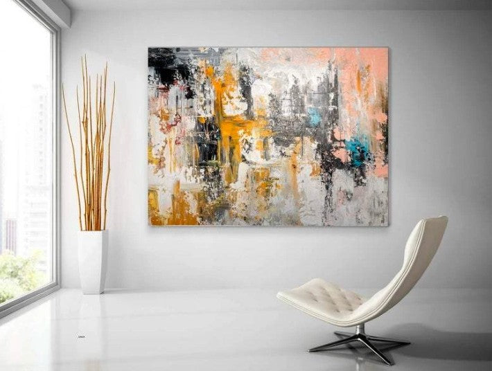 Large Contemporary Abstract Artwork, Huge Modern Wall Art Painting, Acrylic Painting for Living Room