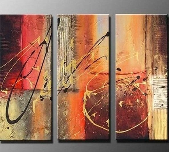 Abstract Lines, Bedroom Wall Art, Canvas Painting, Abstract Art, Abstract Painting, Acrylic Art, 3 Piece Wall Art, Canvas Art