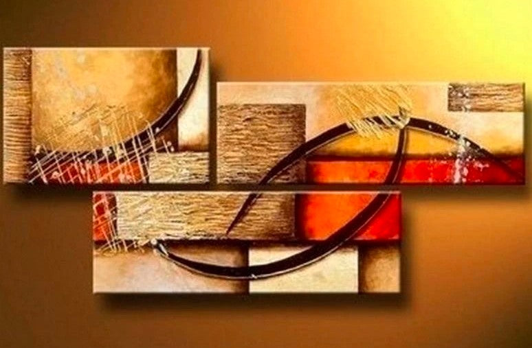 Canvas Painting, Wall Art, Large Painting, Living Room Wall Art, Modern Art, 3 Piece Wall Art