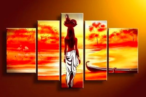 Wall Art Paintings, Living Room Wall Art Paintings, Bedroom Wall Art Paintings, African Painting