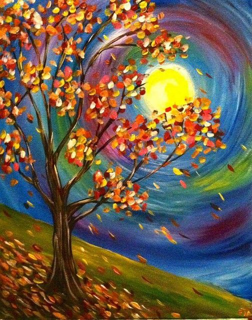 Easy tree painting ideas, easy landscape painting ideas for beginners, easy canvas painting ideas, easy acrylic paintings, simple wall art painting ideas for beginners