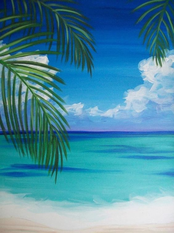 Easy nature painting ideas, easy canvas painting ideas, easy acrylic paintings, simple wall art painting ideas for beginners, easy landscape painting ideas for beginners