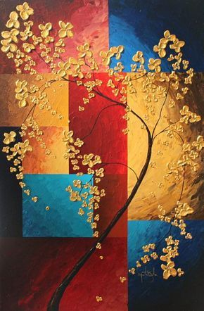 Acrylic Tree Paintings, Canvas Tree Paintings, Simple Painting, Easy Tree Paintings for Beginners