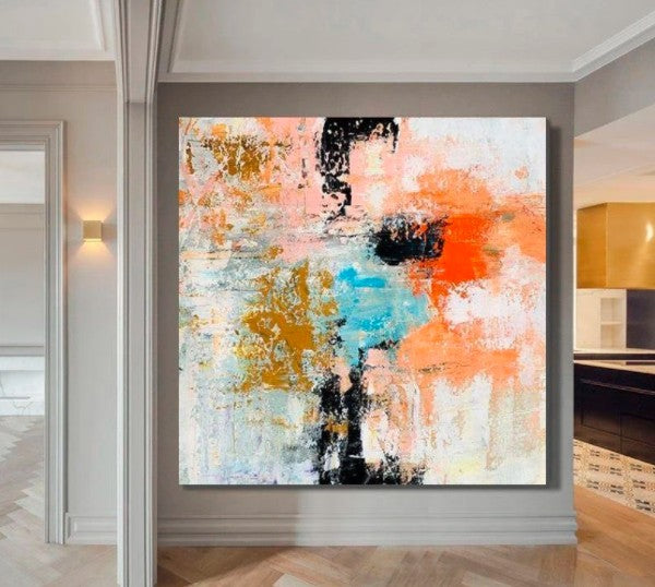 Huge Canvas Painting, Extra Large Painting, Living Room Wall Art, Modern Canvas Painting