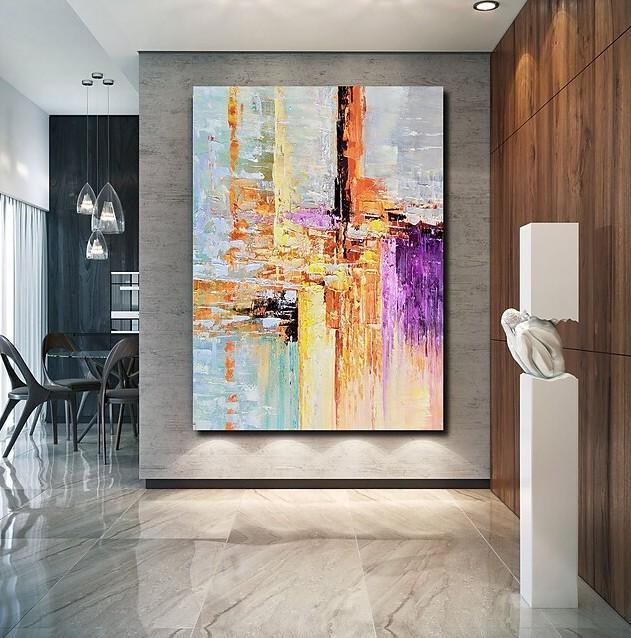 Abstract Acrylic Painting, Modern Paintings for Living Room, Hand Painted Wall Art, Buy Paintings Online