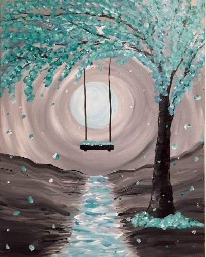 30 Easy Landscape Painting Ideas for Beginners, Easy Canvas Painting Ideas for Kids, Easy Tree Paintings, Easy Landscape Paintings, Simple Tree Acrylic Painting Ideas on Canvas
