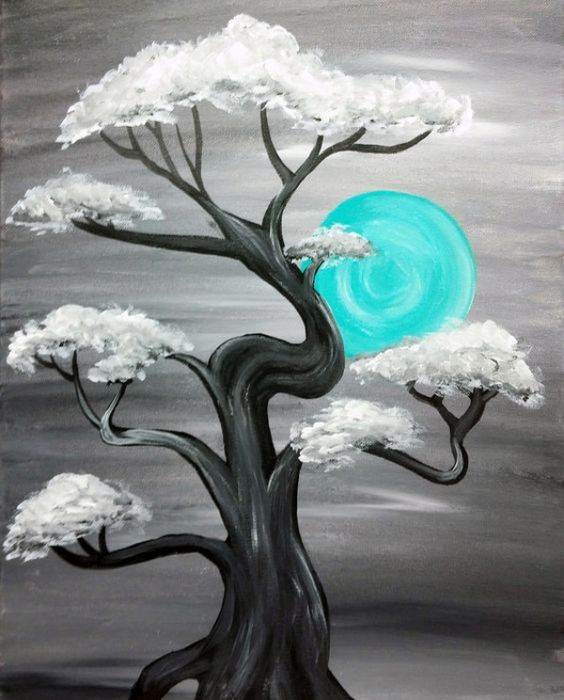 30 Easy Landscape Painting Ideas for Beginners, Easy Canvas Painting Ideas for Kids, Easy Tree Paintings, Easy Tree Landscape Paintings, Simple Acrylic Painting Ideas on Canvas