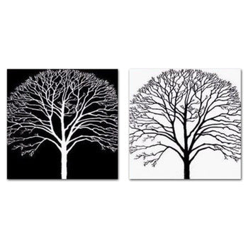 Black Tree Painting, White Tree Painting, Abstract Tree Paintings, Easy Tree Paintings for Beginners, Acrylic Tree Painting