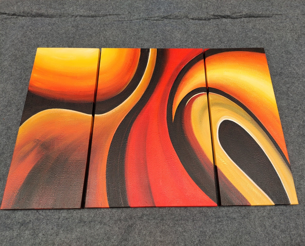 Wall Art Painting, 3 Piece Canvas Paintings, Canvas Modern Painting, 3 Piece Painting, Acrylic Contemporary Art, 3 Piece Wall Art