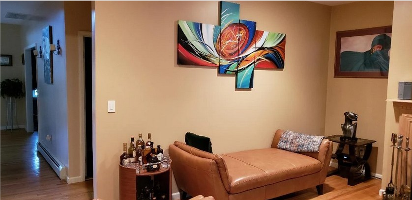 4 Piece Wall Art, Living Room Wall Paintings, Acrylic Painting on Canvas, Modern Contemporary Art