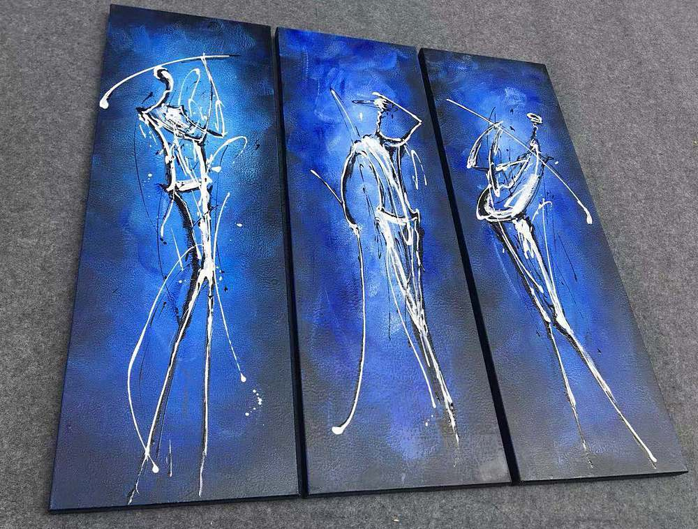 3 Piece Canvas Paintings, Abstract Acrylic Paintings, 3 Piece Painting, 3 Piece Wall Art, Paintings for Bedroom