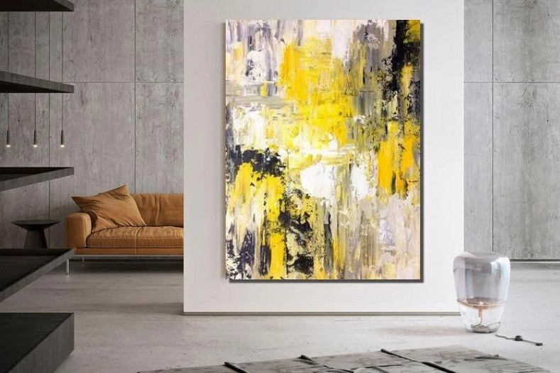 Original Large Contemporary Abstract Artwork, Modern Wall Art Painting on Canvas, Simple Acrylic Painting for Living Room