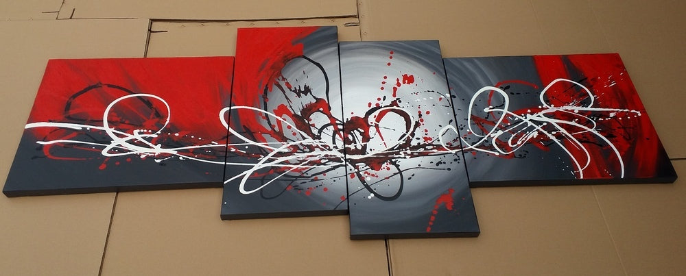 Wall Art Painting, 4 Piece Canvas Painting, Abstract Acrylic Paintings, Modern Artwork, Contemporary Painting