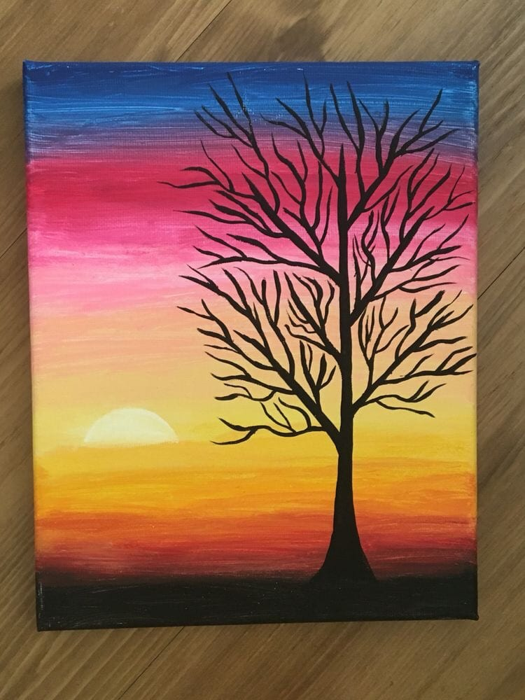Tree Branch Painting, Abstract Tree Paintings, Easy Tree Paintings for Beginners, Acrylic Tree Painting